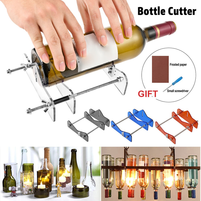 Glass Bottle Cutter Tool For Professional Bottle Cutting - Cuts Champagne Wine Beer Bottle