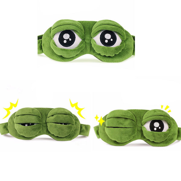 3D Frog Eye shade Plush Eye Cover