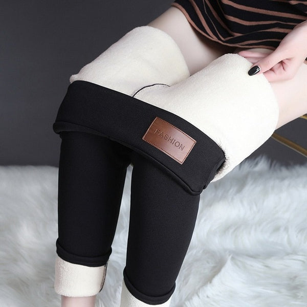 High Waist Winter Seamless Warm Thick Fleece Leggings