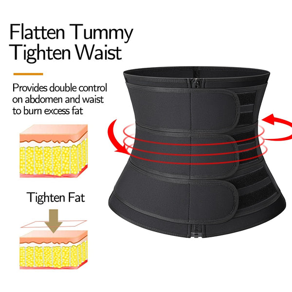 Value Sauna Waist Trainer for Weight Loss And Back Support, Sweat Ab Belt