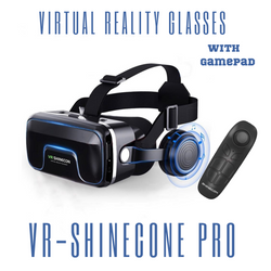 Virtual Reality 3D Google  And Headphone Shinecon Pro Version