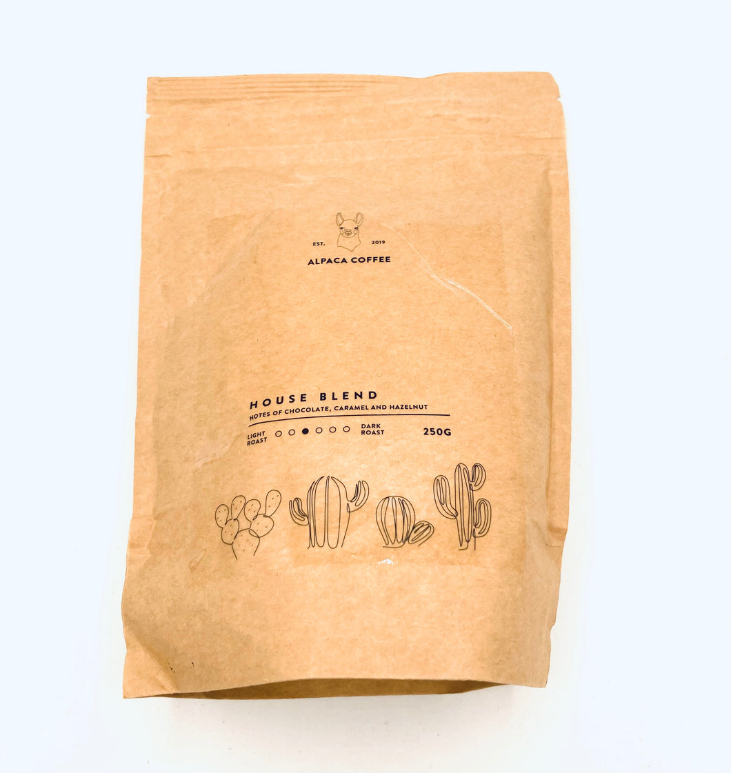 House Blend Coffee 250g - Alpaca Coffee