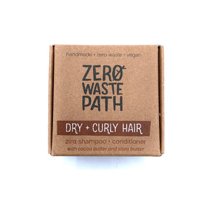 2-in-1 Shampoo & Conditioner - Dry + Curly Hair - Zero Waste Path
