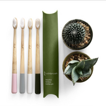 Load image into Gallery viewer, Bamboo Toothbrush with Plant Based Bristles - Truthbrush