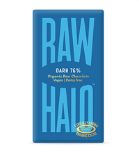 Load image into Gallery viewer, Raw Halo Dark 76% Vegan Chocolate