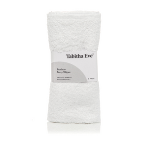 Organic Bamboo Terry Wipes 5 Pack - Tabitha Eve