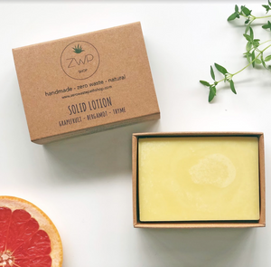 Citrus Solid Lotion Bar - Zero Waste Path