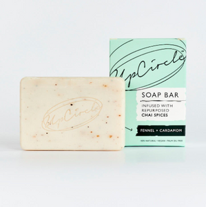 Organic Fennel & Cardamon Chai Soap Bar 100g - Upcircle