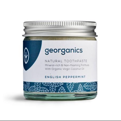 Natural Toothpaste, Peppermint 60ml - Georganics