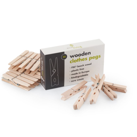Wooden Clothes Pegs (FSC 100%) - Eco Living
