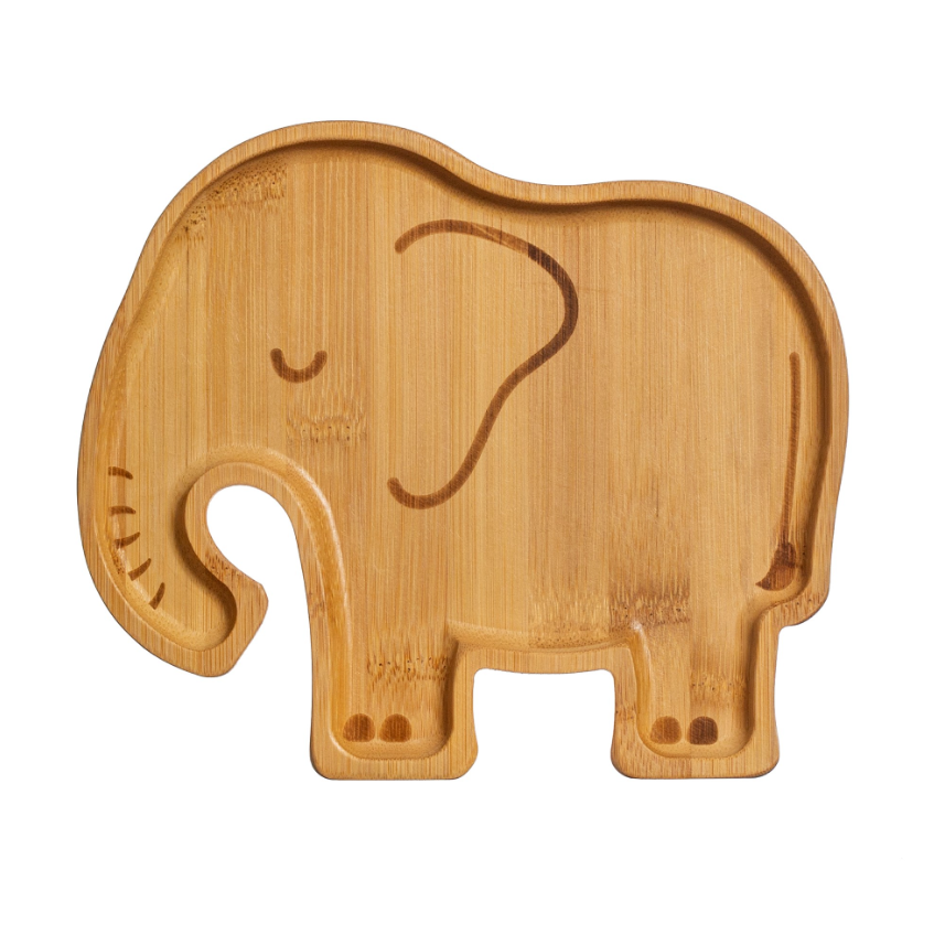 Elephant Bamboo Plate - Sass & Belle