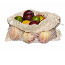 Load image into Gallery viewer, Organic Reusable Produce Bags & Bread Bag - 3 Pack