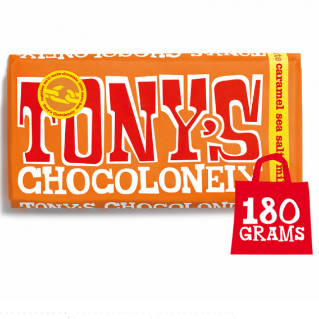Tony's Chocolonely - Milk Chocolate Caramel Sea Salt 180g