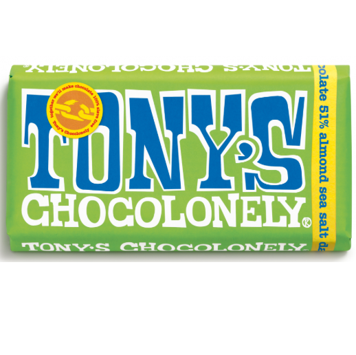 Tony's Chocolonely - Dark Almond Sea Salt 180g - Vegan