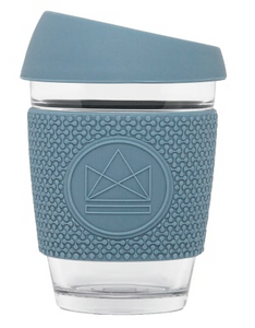 Reusable Glass Coffee Cup - 12oz - Different colours available
