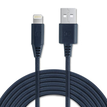 Load image into Gallery viewer, Apple Certified Braided Lightning Cable - Navy Blue - 2 Meter