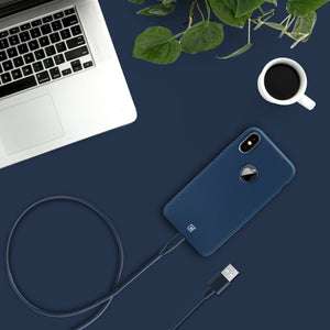 Apple Certified Braided Lightning Cable - Navy Blue - 2 Meter
