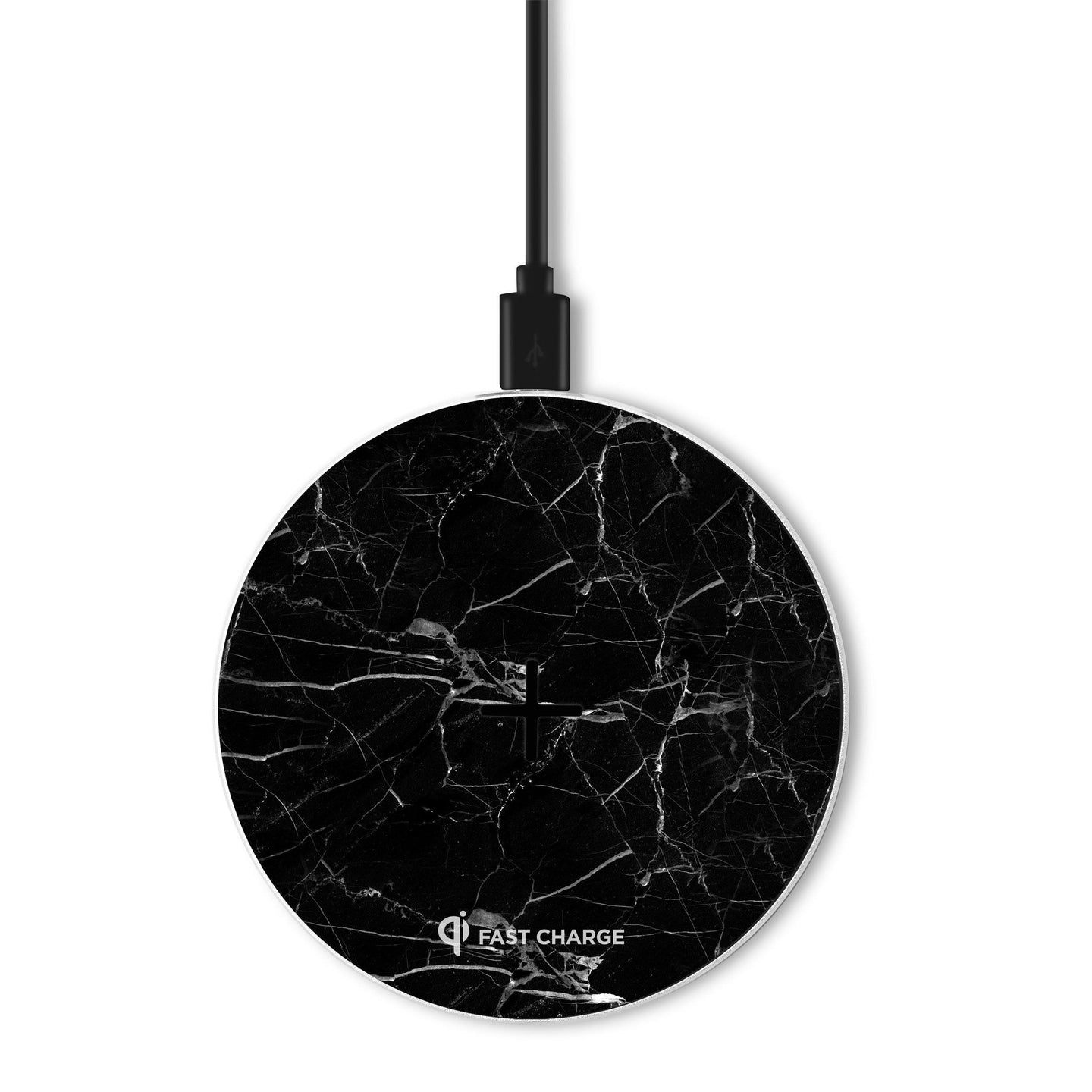 Apollo Marble -10 watt Fast Wireless Charging Pad - Black