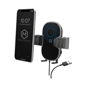 Wireless Car Charger Phone Mount - Auto Grip 2 in 1 Dash & Vent Mount