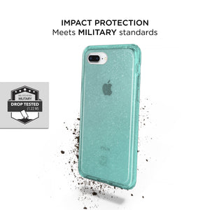 iPhone 8 / 7 Slim Clear Protective Case - Teal Glam