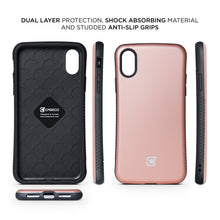 Load image into Gallery viewer, iPhone XR Rugged Protective Case - Rose Gold