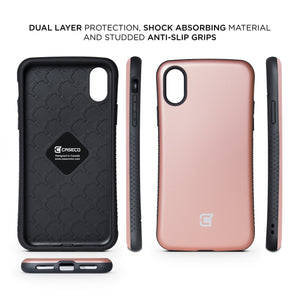iPhone XR Rugged Protective Case - Rose Gold