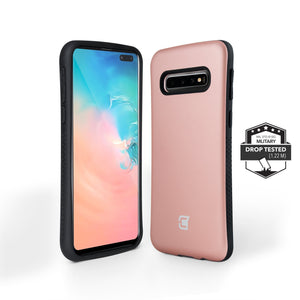 Samsung Galaxy S10 Plus Rugged Protective Case - Rose Gold