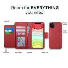 Load image into Gallery viewer, iPhone 11 Pro Max - Sunset Blvd Folio Wallet Case - Red