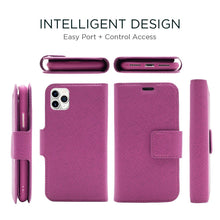 Load image into Gallery viewer, iPhone 11 Pro Max - Sunset Blvd Folio Wallet Case - Purple