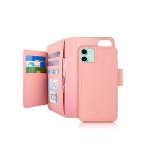 iPhone 11 - Sunset Blvd Magnetic Wallet Folio Case - Pink