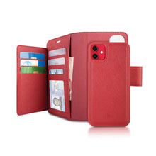 Load image into Gallery viewer, iPhone 11 - Sunset Blvd Magnetic Wallet Folio Case - Red