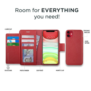 iPhone 11 - Sunset Blvd Magnetic Wallet Folio Case - Red