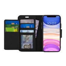 Load image into Gallery viewer, iPhone 11 - Sunset Blvd Magnetic Wallet Folio Case - Black