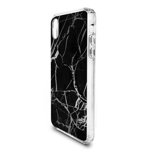 iPhone XS / X - Holographic Marble Tough Case - Black