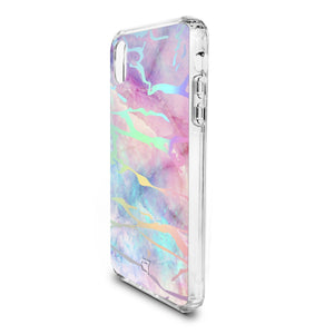 iPhone XS / X - Holographic Marble Tough Case - Unicorn
