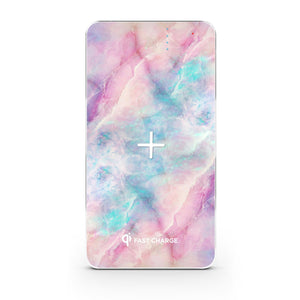 Wireless Charging Power Bank - Apollo Marble - Unicorn