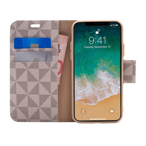 iPhone X / XS - Park Ave Magnetic Folio Wallet Case - Gold