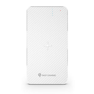 Wireless Charging Power Bank - Stealth - White