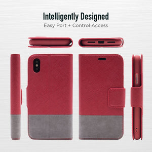 iPhone XR - Broadway Magnetic Folio Wallet - Red