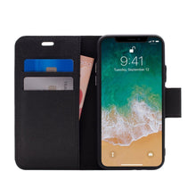 Load image into Gallery viewer, iPhone X / XS - Broadway Magnetic Folio Wallet - Black