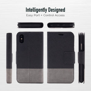 iPhone X / XS - Broadway Magnetic Folio Wallet - Black