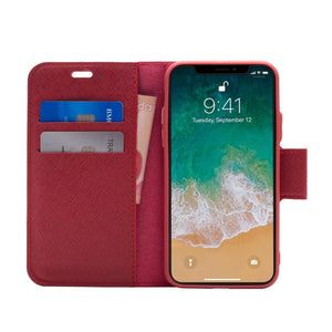 iPhone X / XS - Broadway Magnetic Folio Wallet - Red