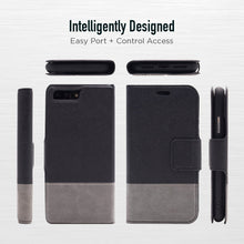 Load image into Gallery viewer, iPhone 8 Plus / 7 Plus - Broadway Magnetic Folio Wallet - Black