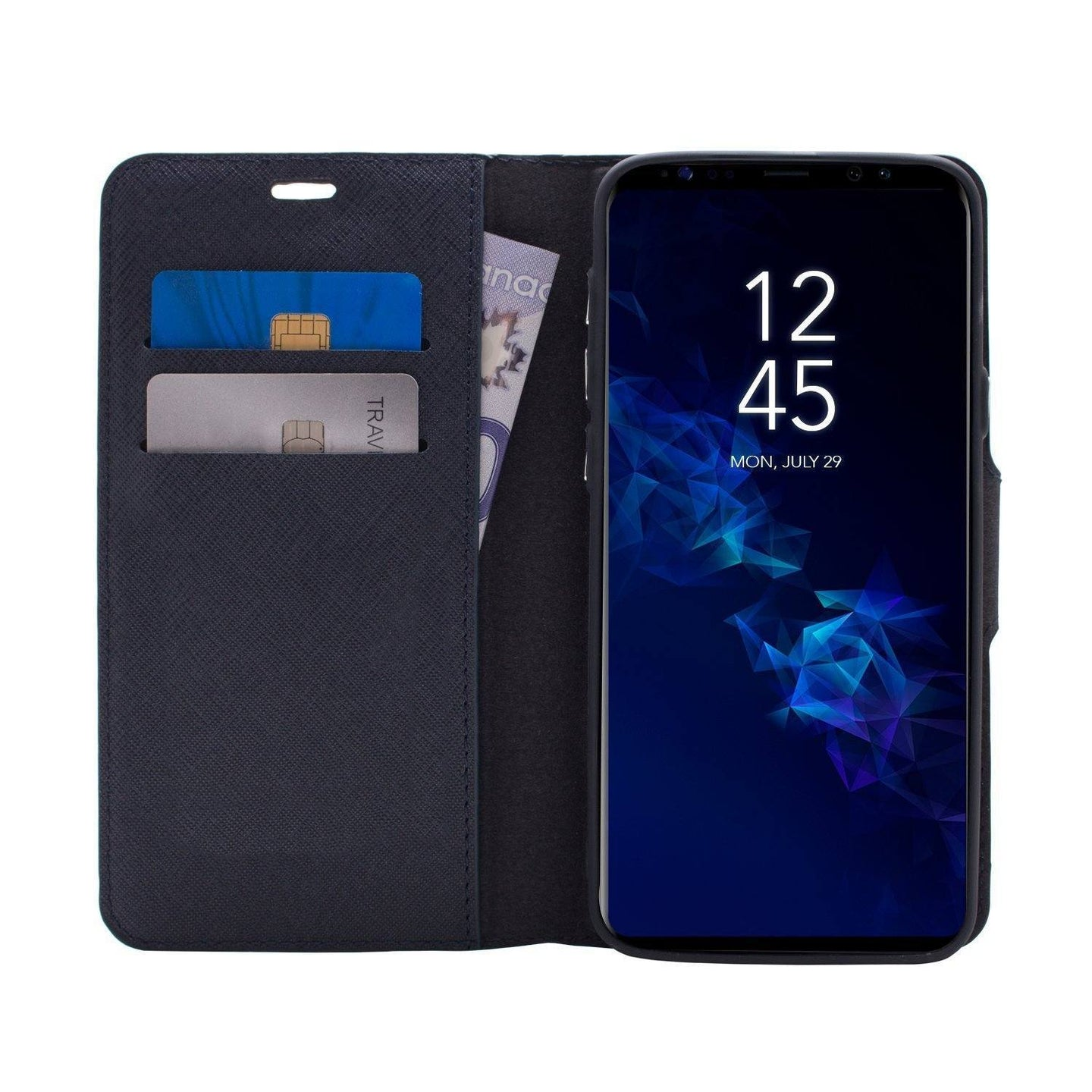 Samsung Galaxy S9 Plus - Broadway Magnetic Folio Wallet - Blue