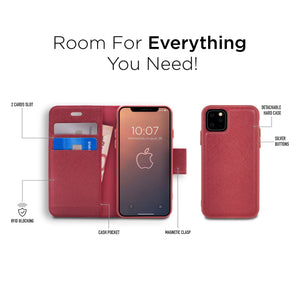 iPhone 11 Pro - Broadway Magnetic Folio Wallet - Red
