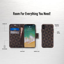 Load image into Gallery viewer, iPhone XS Max - Park Ave Magnetic Folio Wallet Case - Brown