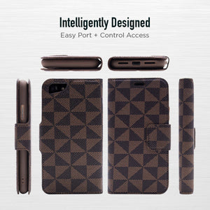 iPhone XR - Park Ave Magnetic Folio Wallet Case - Brown
