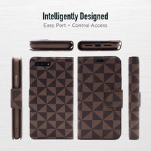 Load image into Gallery viewer, iPhone 8 Plus / 7 Plus - Park Ave Magnetic Folio Wallet Case - Brown