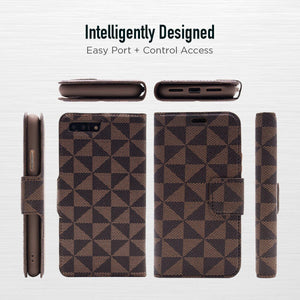 iPhone 8 Plus / 7 Plus - Park Ave Magnetic Folio Wallet Case - Brown