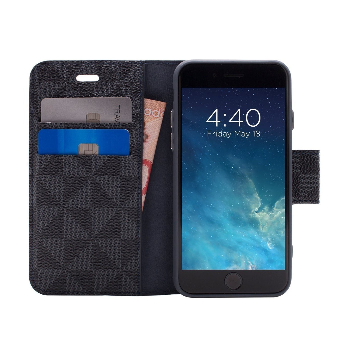 iPhone 8 Plus / 7 Plus - Park Ave Magnetic Folio Wallet Case - Blue